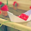 boat, flowers, paper