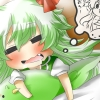 chibi, anime, green hair