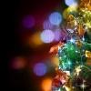christmas tree, garlands, ornaments