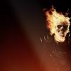 ghost rider, skull, fire
