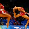 gymnasts, skipping rope, deflection