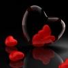 heart, glass, 3d