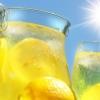 lemonade, sun, decanter
