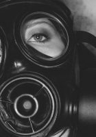 mask, girl, face