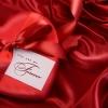 red, satin, ribbon