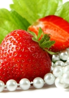 strawberries, cut, beads