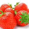 strawberry, berry, white background