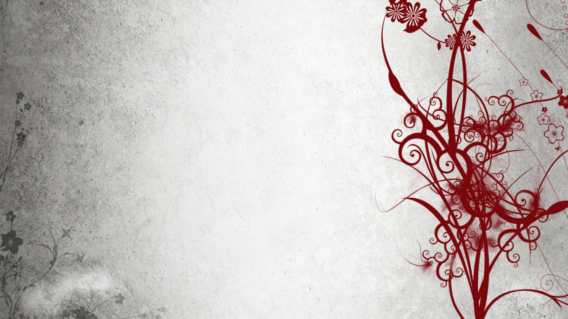 Abstract Black White Red 312 1920x1080