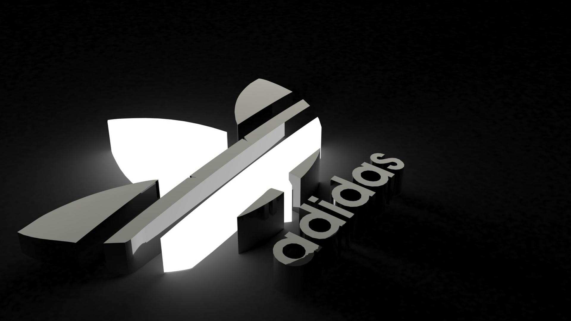 Adidas Logo Black Background