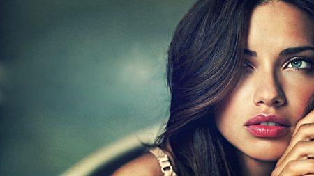 adriana lima, brunette, look