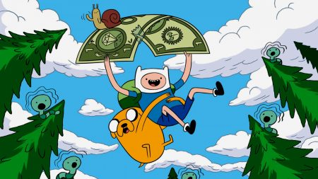 adventure time with finn and jake, sky, flying