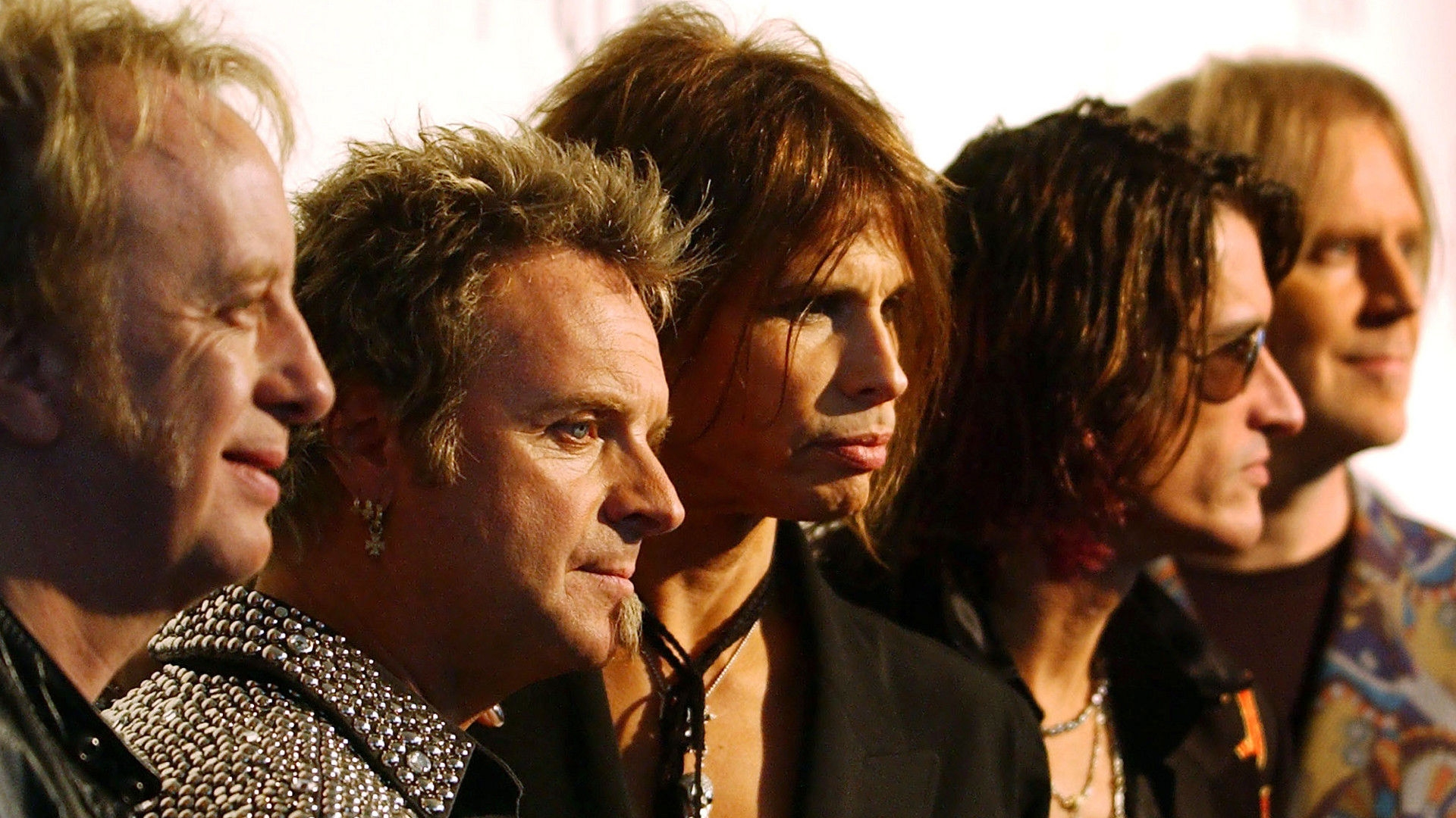 Download Wallpaper 1920x1080 Aerosmith Group Musicants Photo Set
