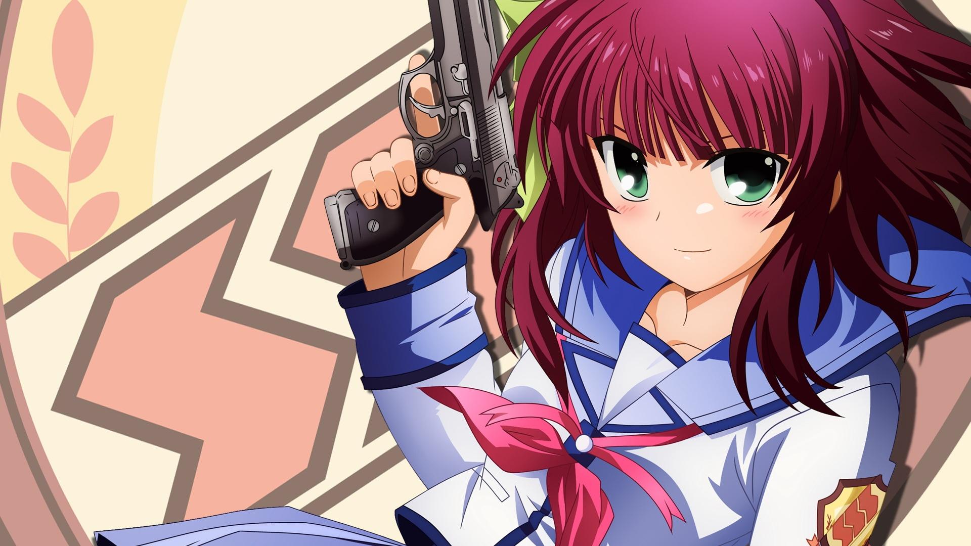 Download wallpaper 1920x1080 angel beats girl gun wall angel beats girl gun voltagebd Images