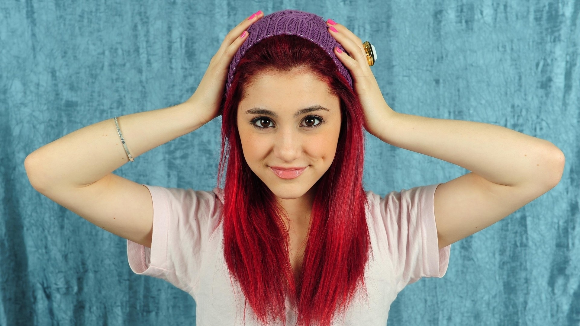 Download Wallpaper 1920x1080 Ariana Grande Hair Color Creativity