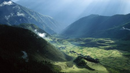 asia, mountains, clouds