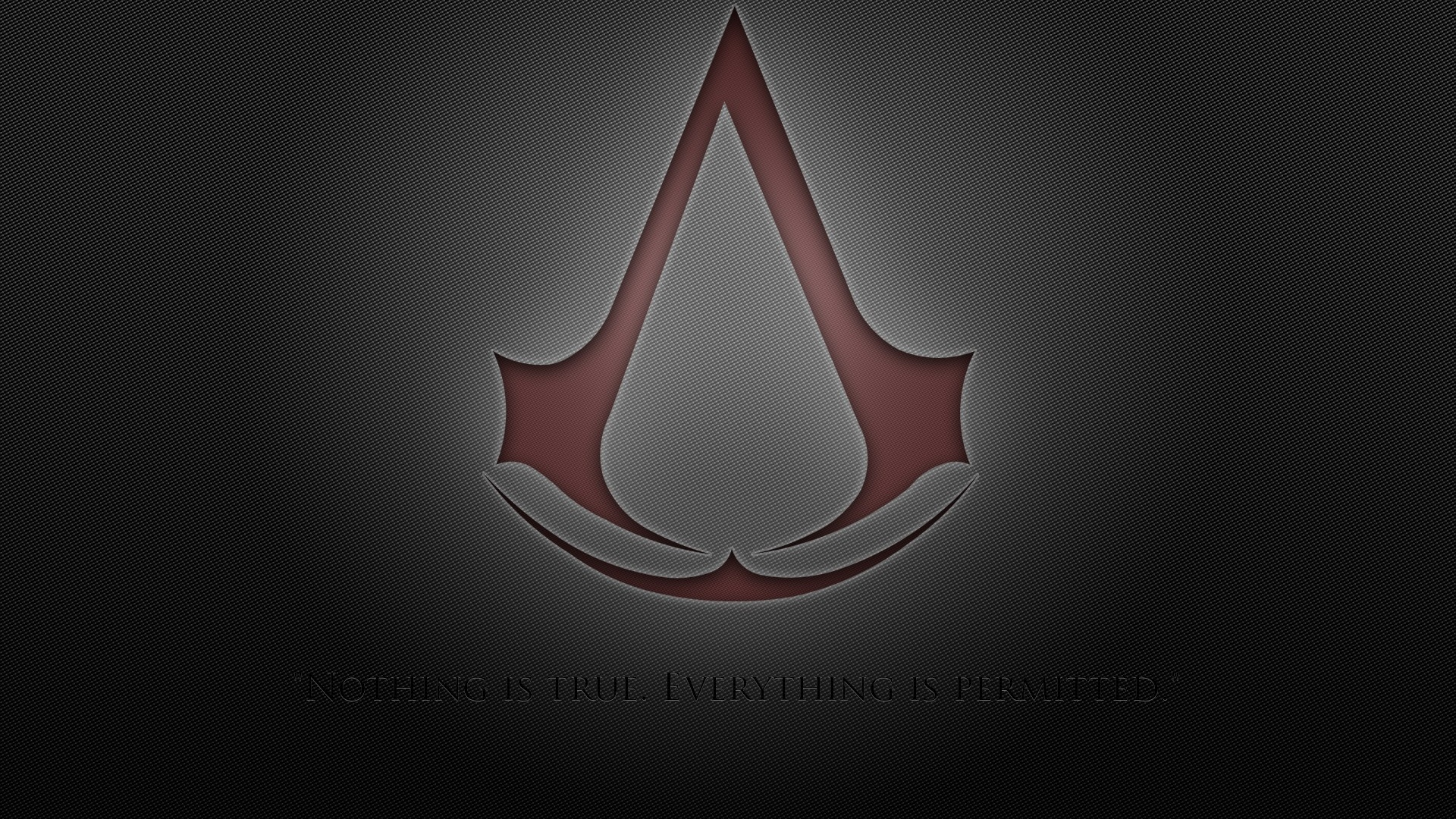 download wallpaper 1920x1080 assassins creed, assassins symbol, red