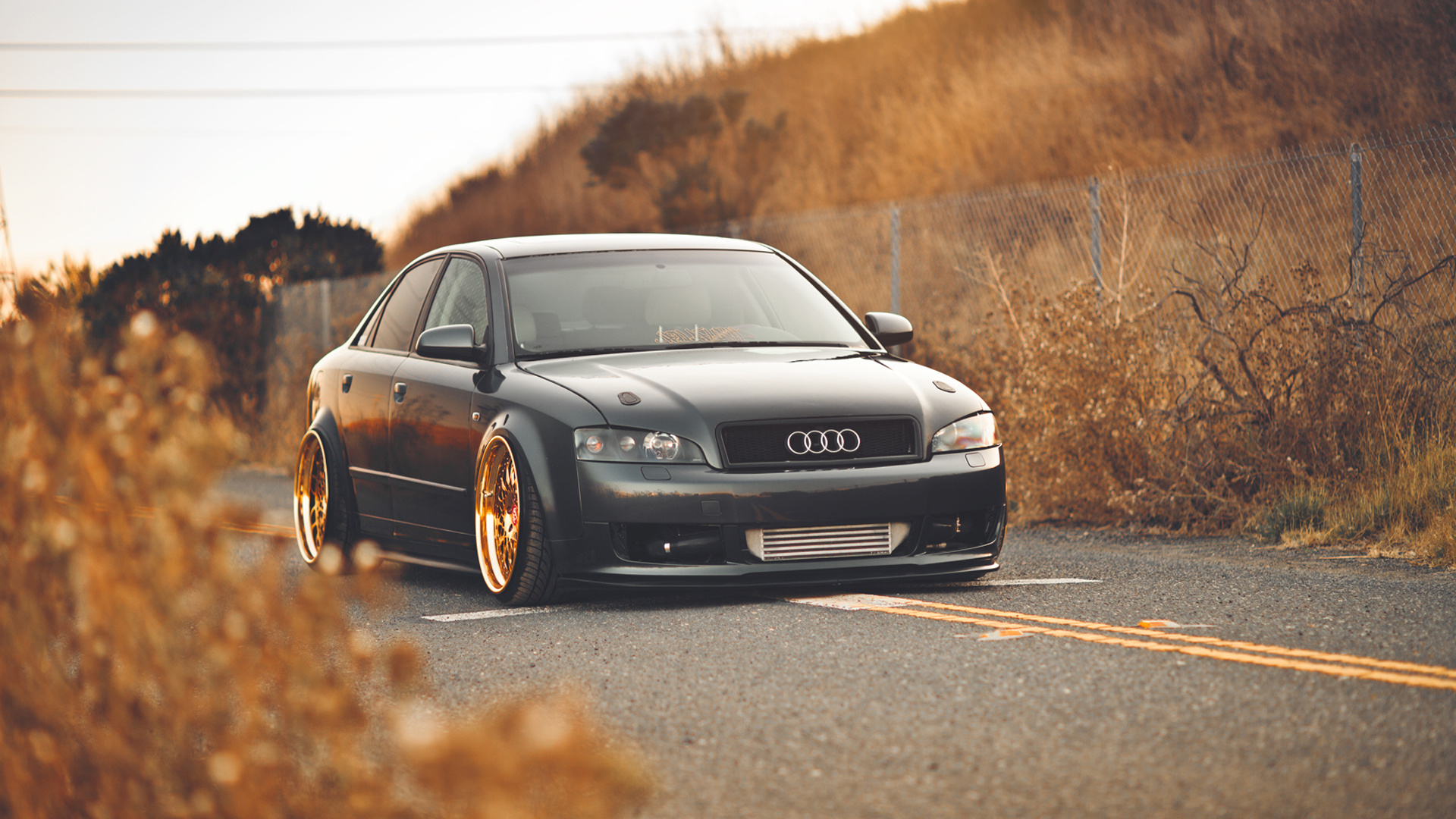 Download Wallpaper 1920x1080 Audi A4 Autumn Gold Full HD
