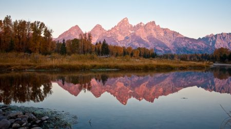 autumn, mountains, reflection