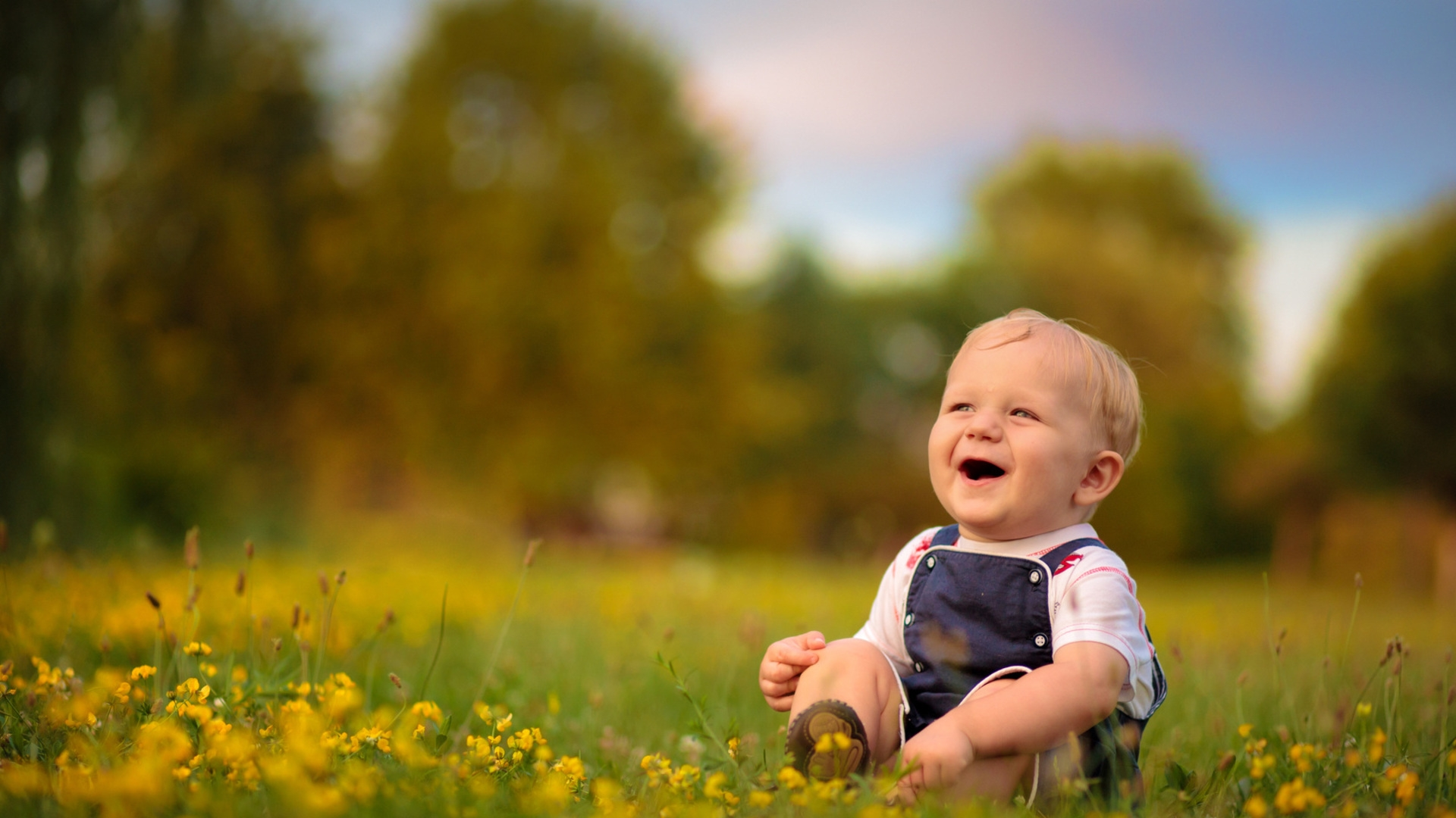Download Wallpaper 1920x1080 Baby Boy Laugh Smile Full HD 1080p Background