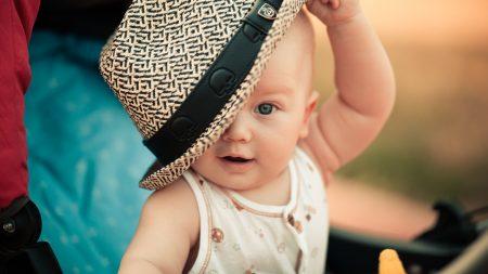 baby, child, hat