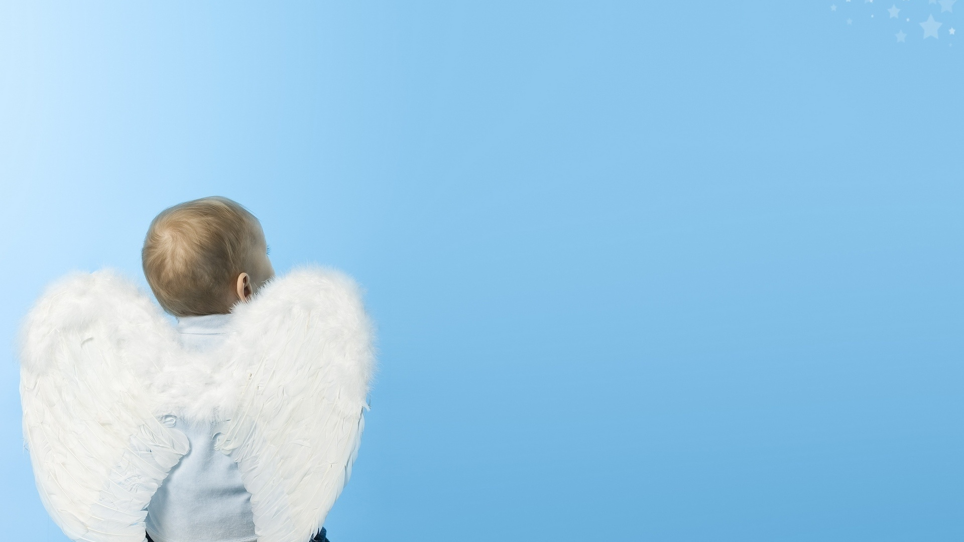 download wallpaper 1920x1080 baby, child, wings, angel full hd 1080p