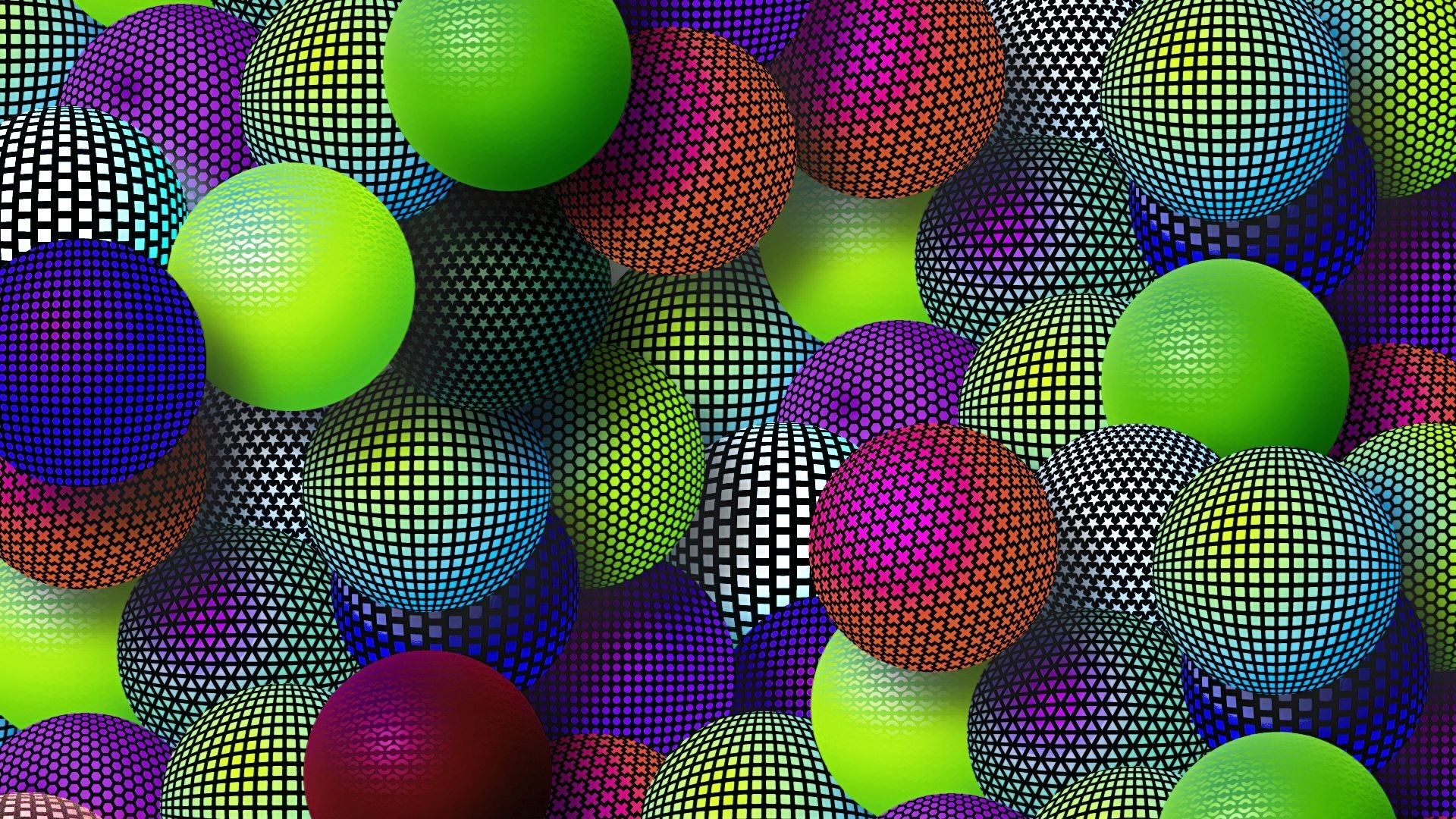 Download Wallpaper 1920x1080 Balloons Colorful Mesh Set Variety