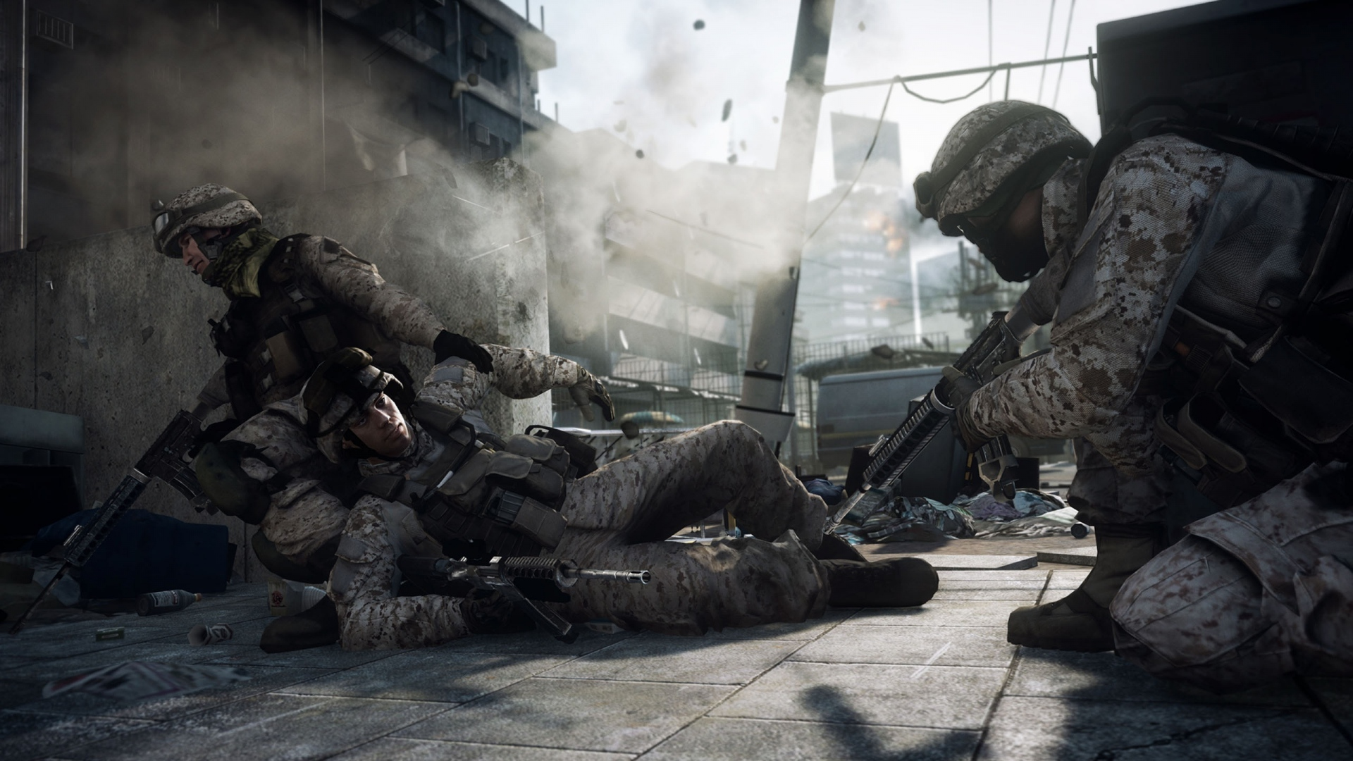 Download wallpaper 1920x1080 battlefield 3 soldiers building battlefield 3 soldiers building voltagebd Images