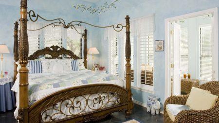 bed, chair, door