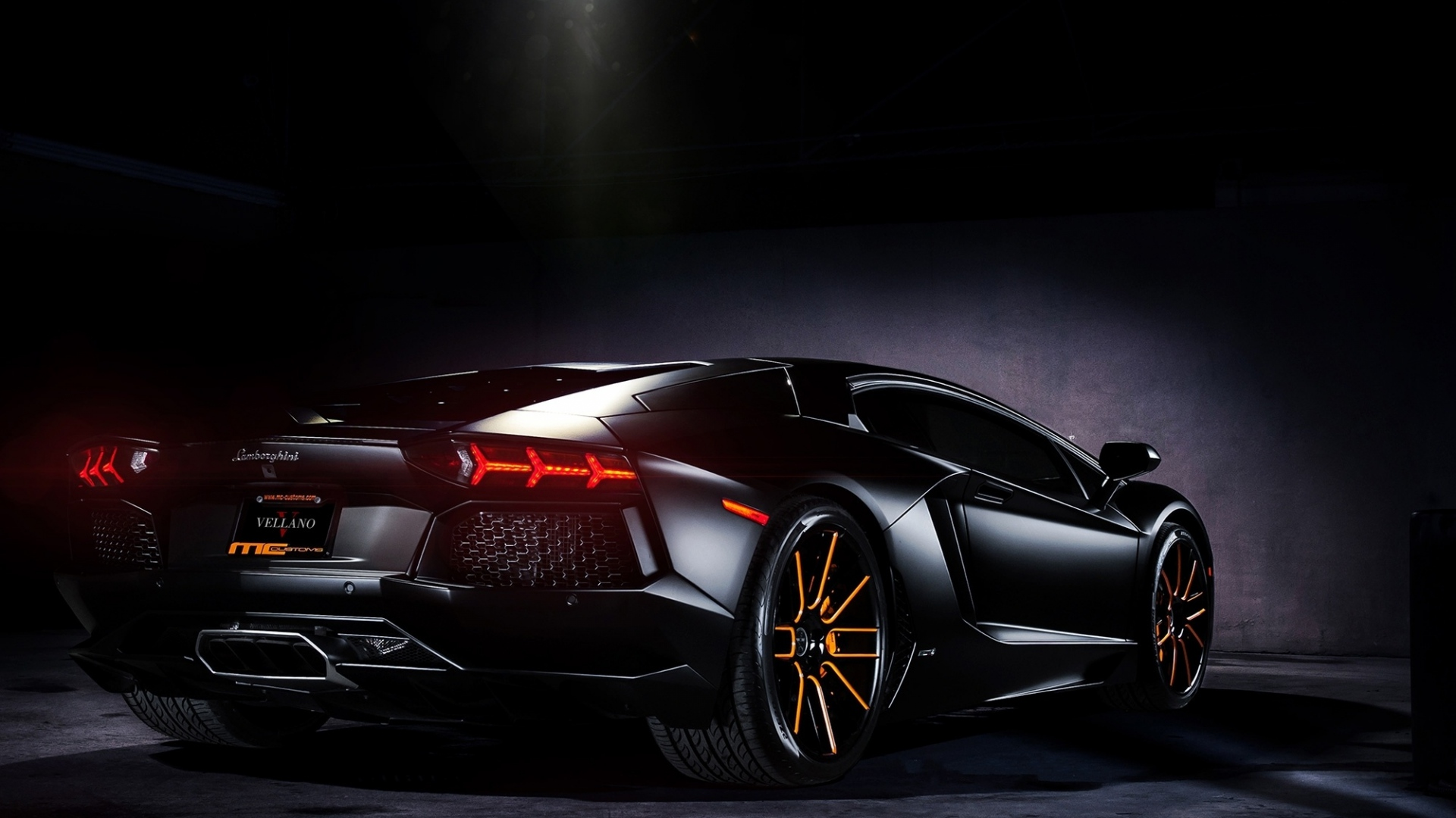 Download Wallpaper 1920x1080 Black Aventador Lamborghini Lp700 4