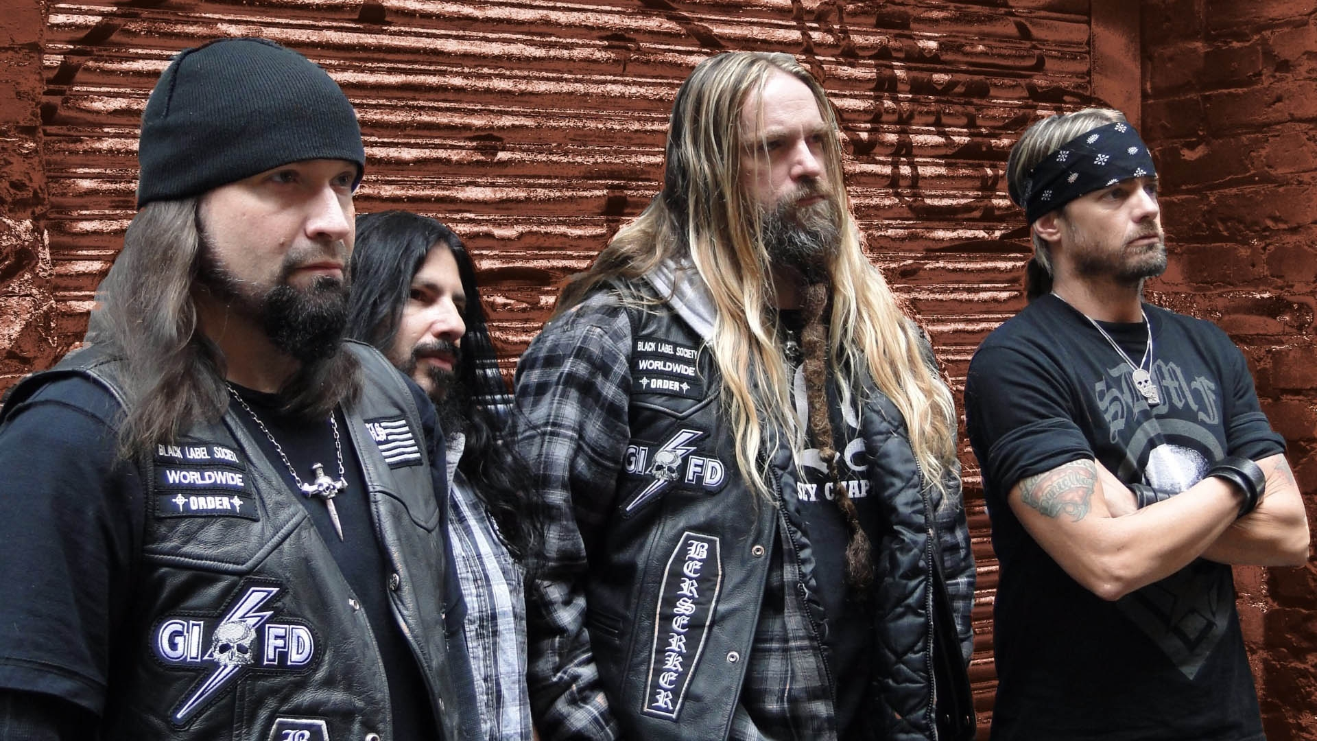 Download Wallpaper 1920x1080 black label society, jackets, hair ...