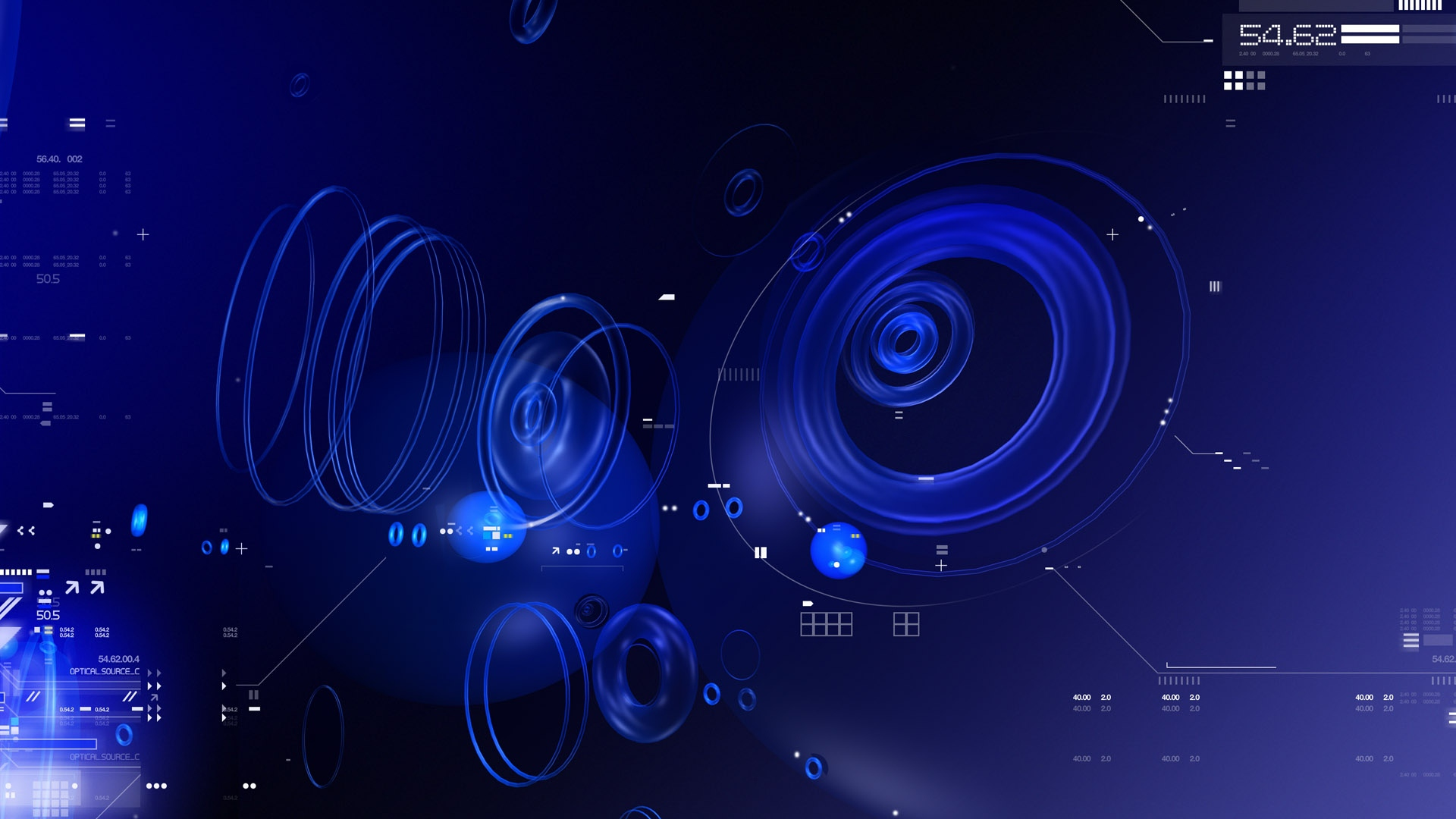 download wallpaper 1920x1080 blue black abstract white circles