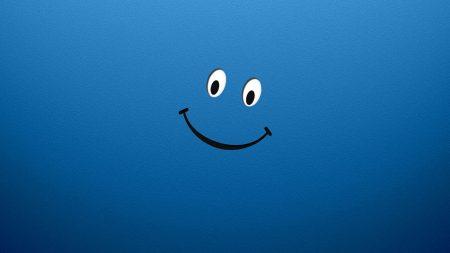 blue, white, smile