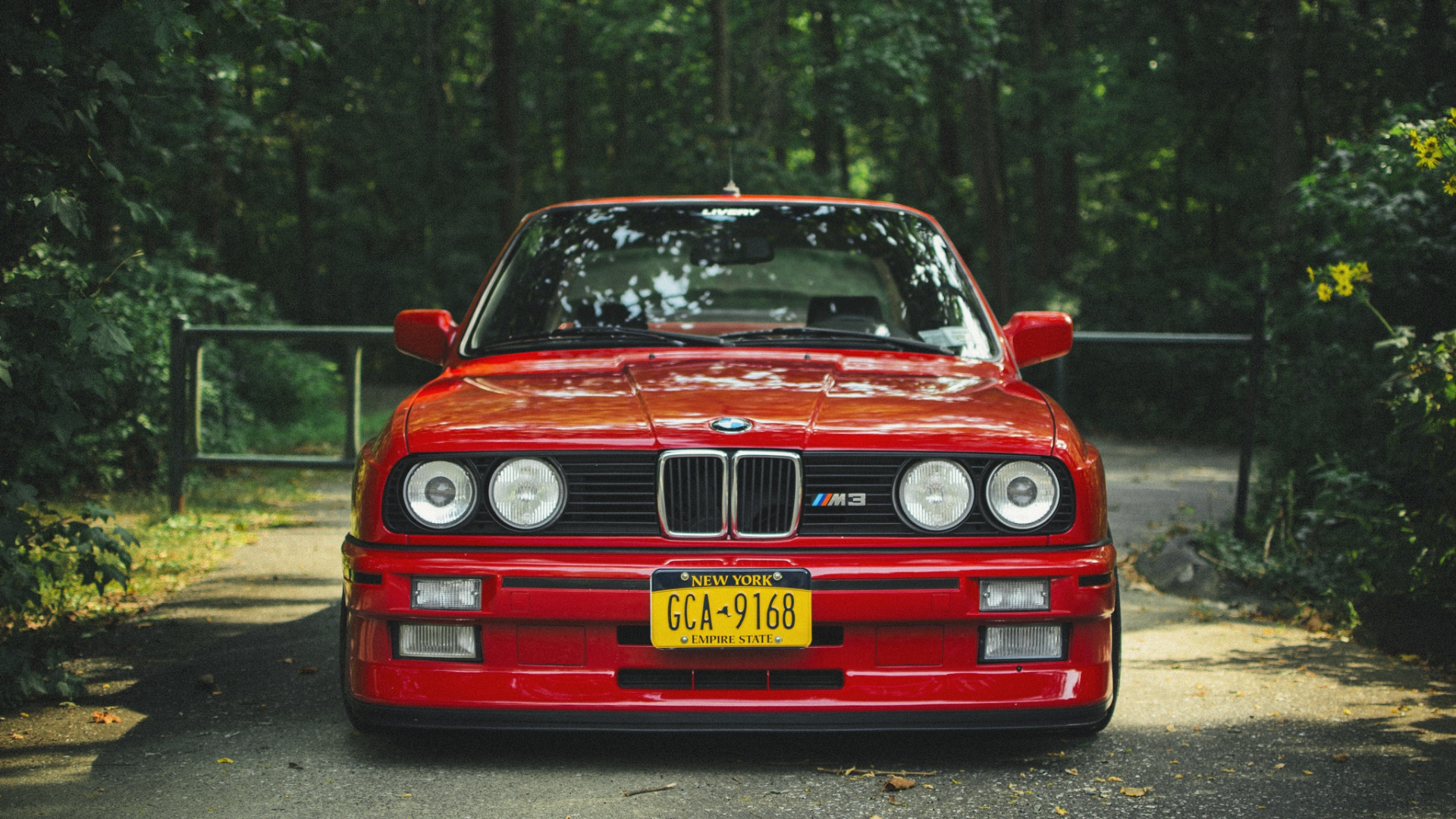 Download Wallpaper 1920x1080 Bmw E30 M3 Red Tuning