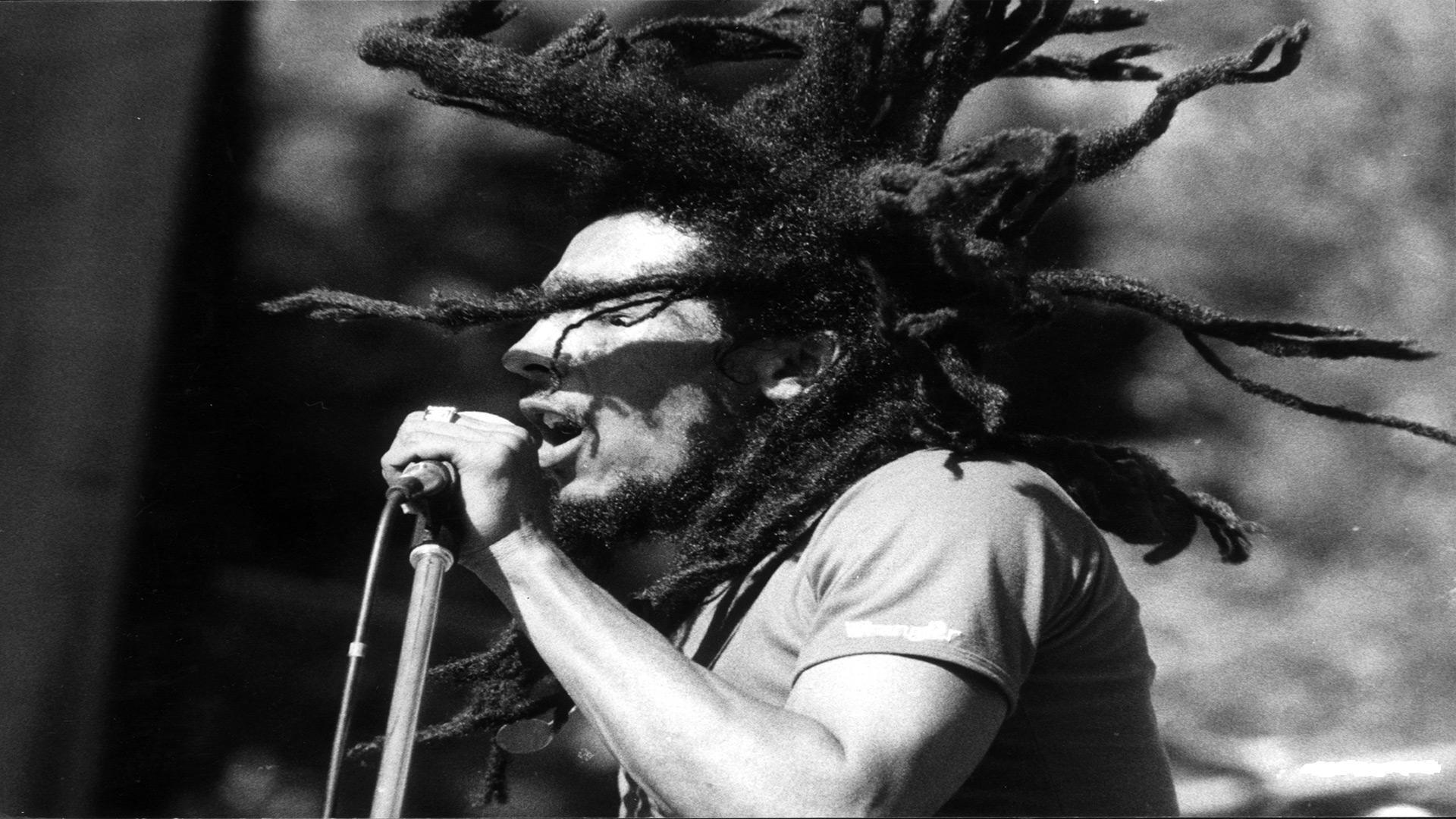 Download wallpaper 1920x1080 bob marley dreadlocks microphone action concert full hd 1080p - Reggae girl wallpaper ...
