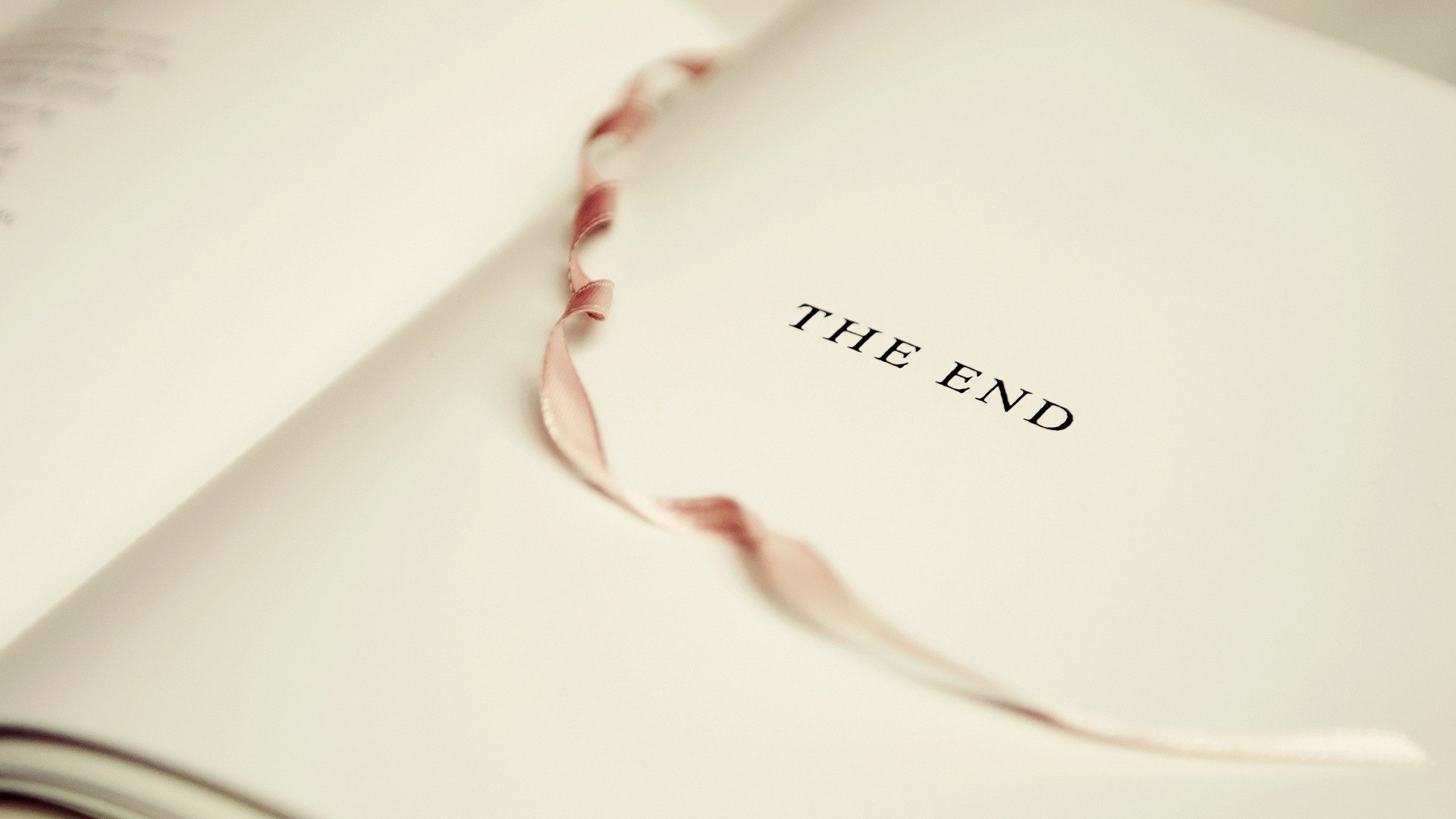 Page Tab The End 49247 1920x1080 Download Wallpaper Book