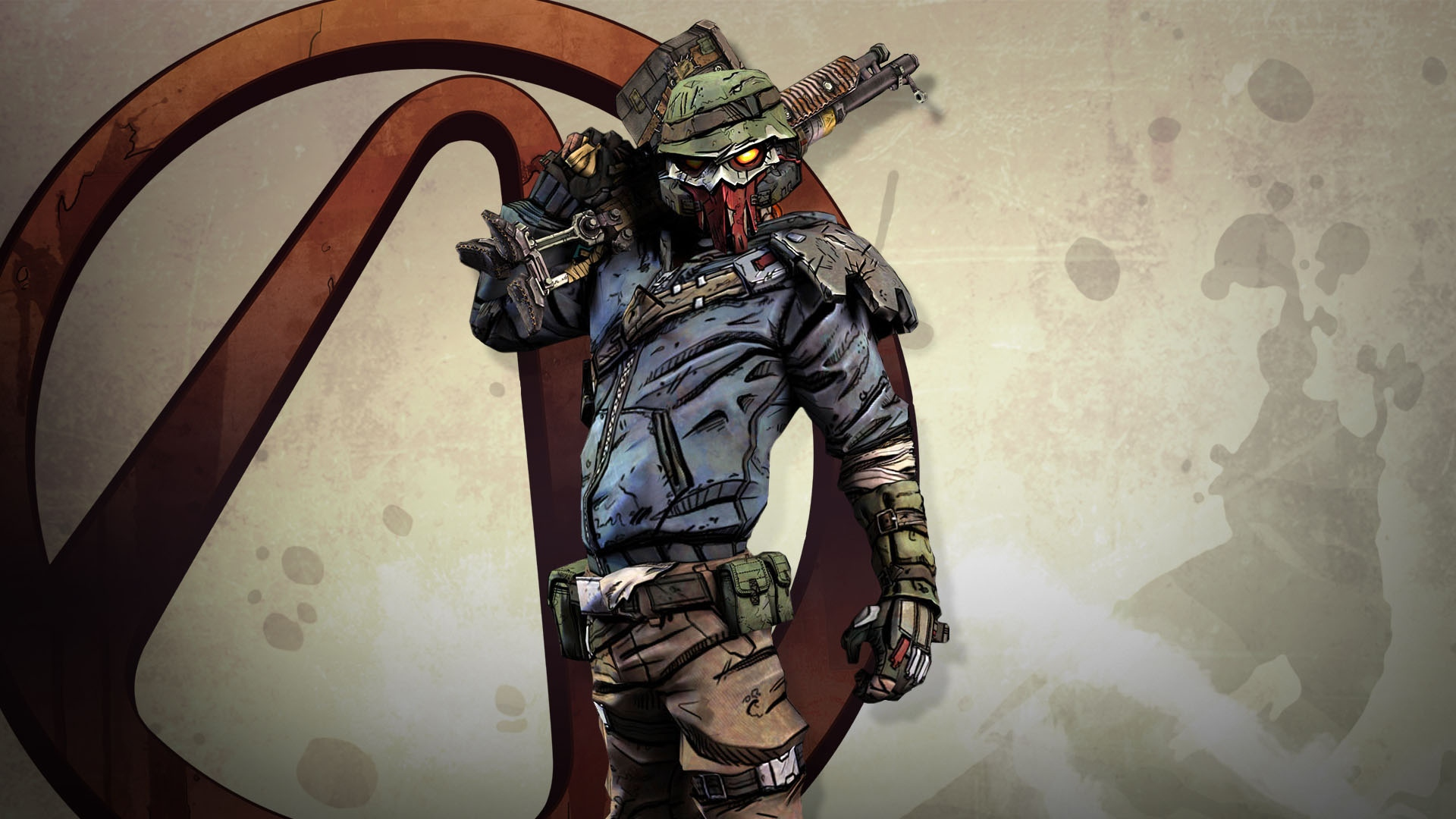 Download wallpaper 1920x1080 borderlands roland shotgun emblem borderlands roland shotgun voltagebd Image collections