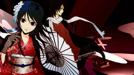 boy, girl, kimono