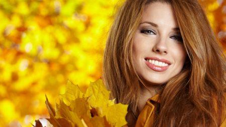 brunette, face, smile
