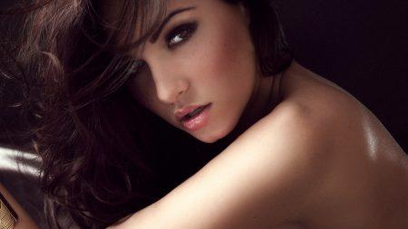 brunette, face, tenderness
