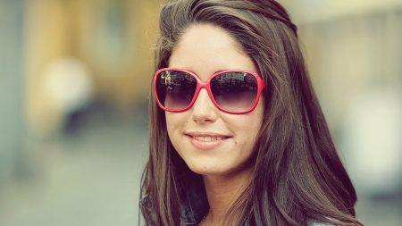 brunette, hair, sunglasses