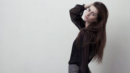 brunette, model, blouse
