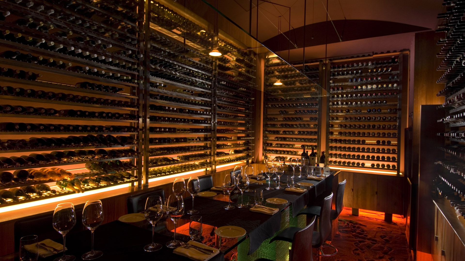 download wallpaper 1920x1080 cafe, restaurant, wine, wine racks