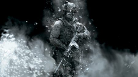 call of duty, soldier, gun