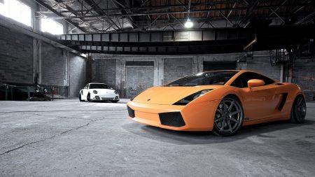 Download wallpaper 1920x1080 lamborghini cars street for Garage auto orange