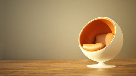 chair, room, orange