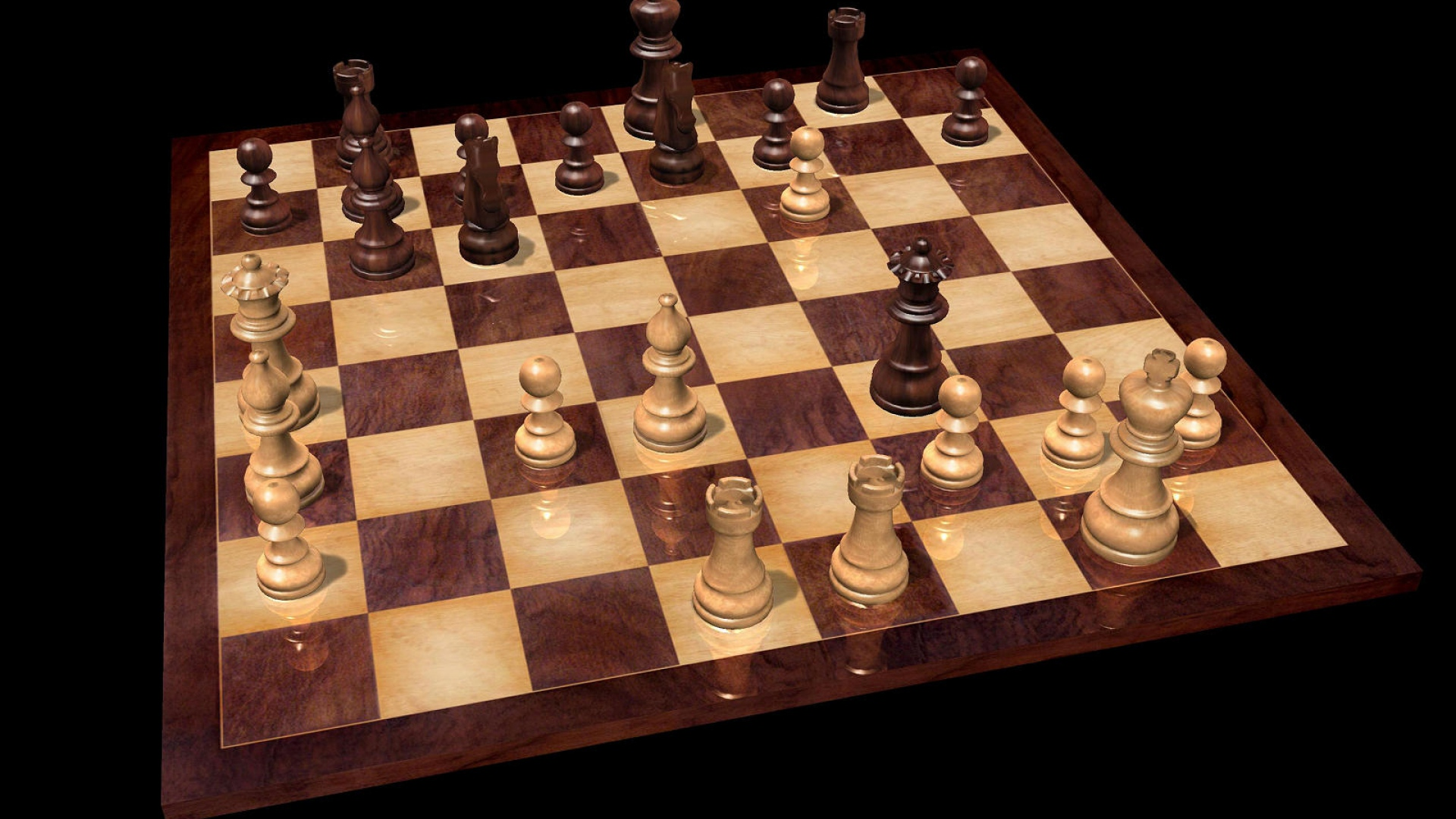 Download Wallpaper 1920x1080 Chess Board Game Party Figures Full