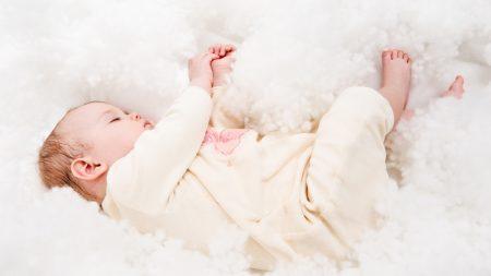 child, baby, lie down