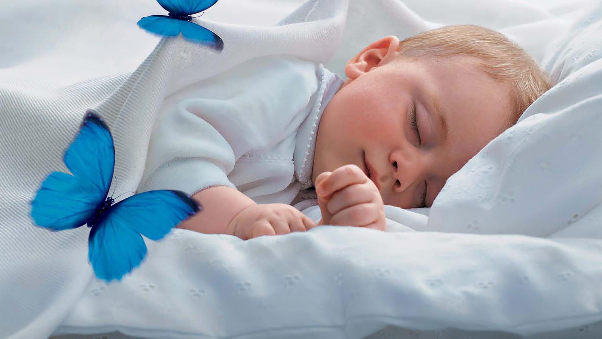 Download Wallpaper baby sleep shower cap blue owl
