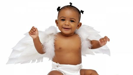 child, baby, wings
