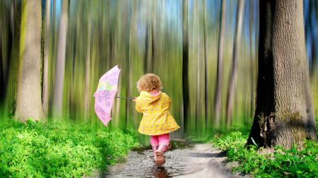 child, forest, nature